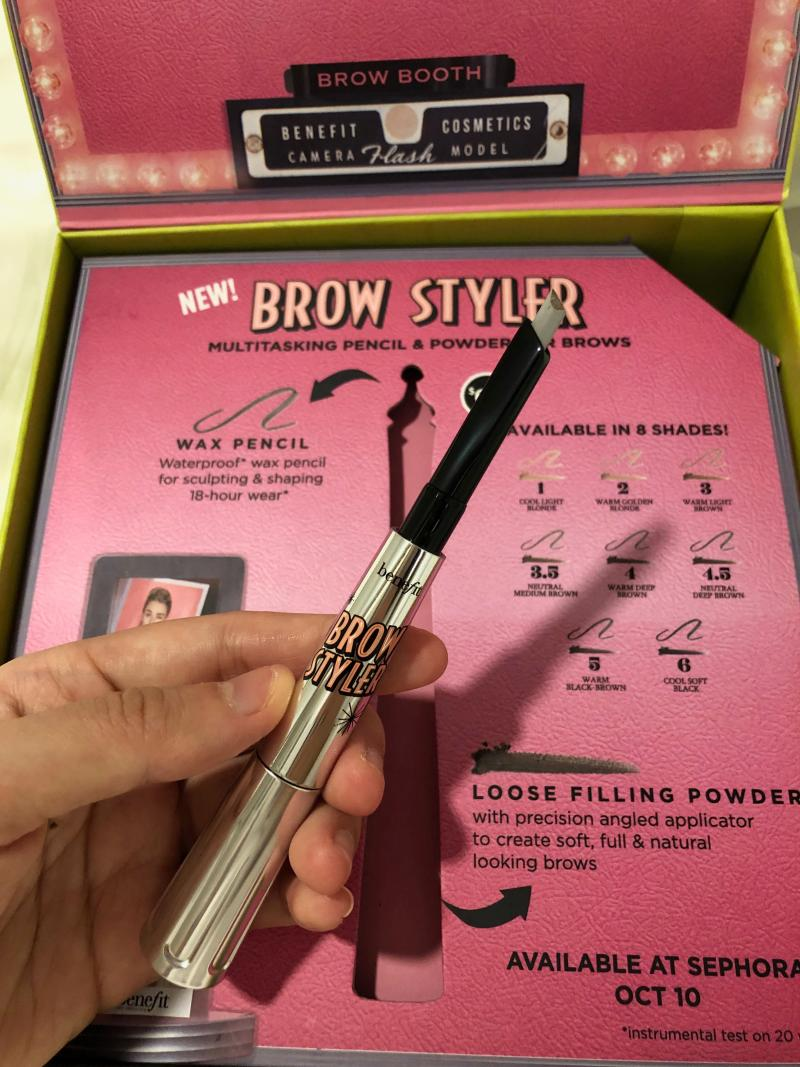 The waterproof wax pencil for clean and shaped brows. (PHOTO: Sheila Chiang/Yahoo Lifestyle Singapore)
