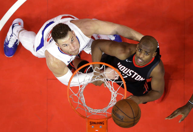 The Houston Rockets and Los Angeles Clippers can't stop warring with one another.  (AP)