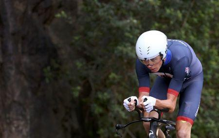 2016 Rio Olympics - Cycling Road - Final - Men's Individual Time Trial - Pontal - Rio de Janeiro, Brazil - 10/08/2016. Chris Froome (GBR) of United Kingdom competes. REUTERS/Paul Hanna