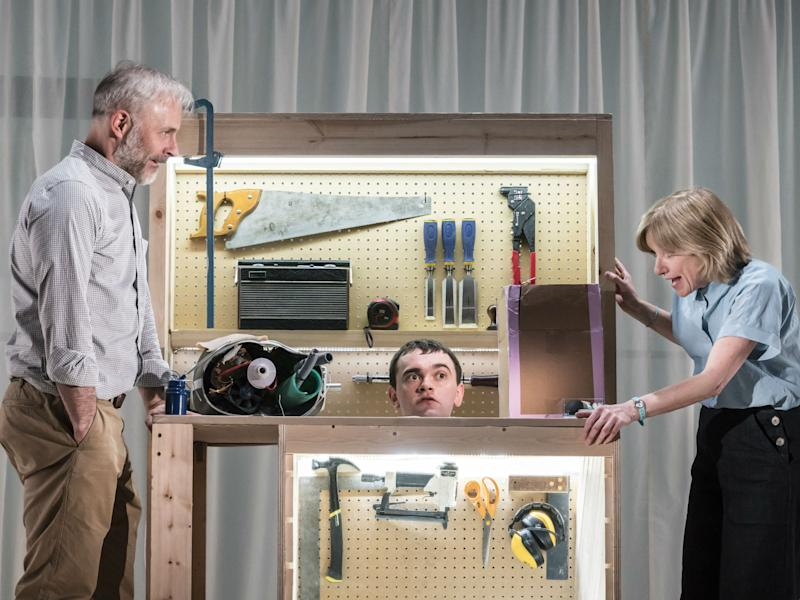 Mark Bonnar, Brian Vernel, and Jane Horrocks star in 'Instructions for Correct Assmebly': Johan Persson