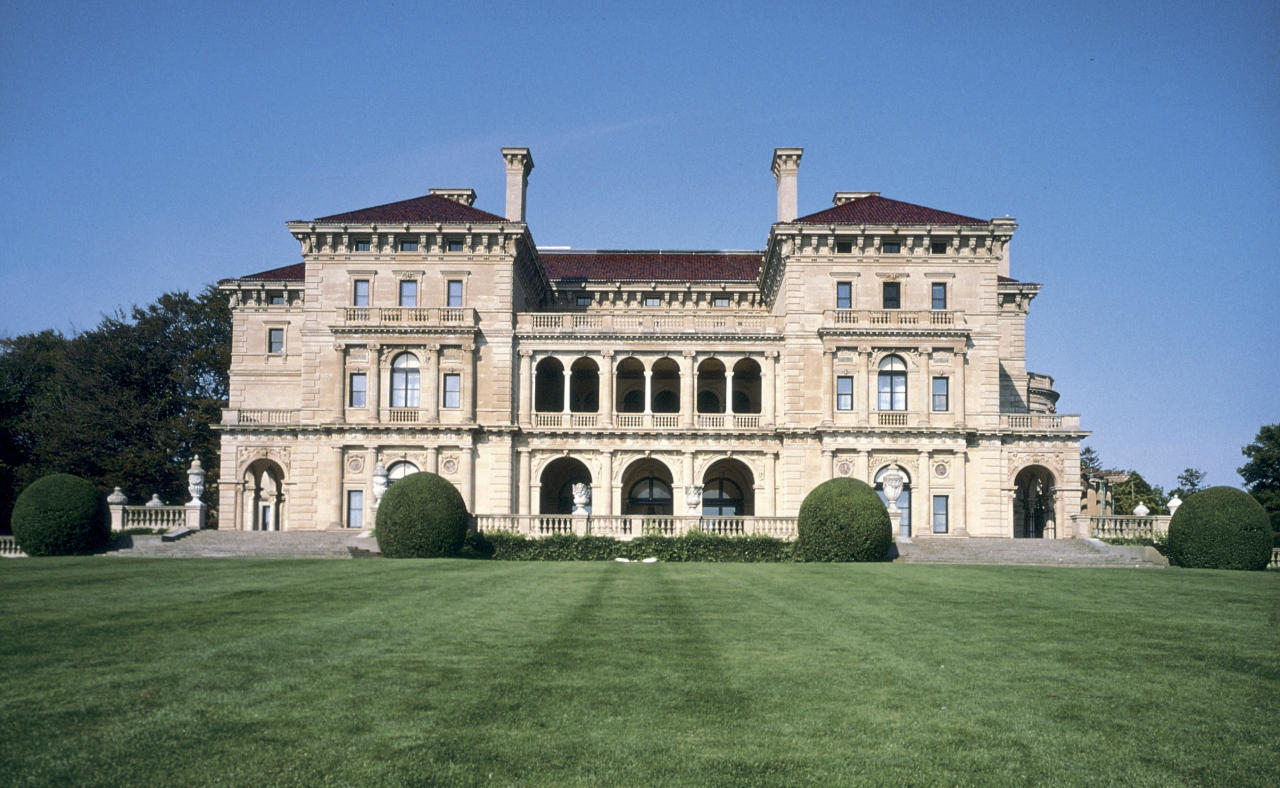 "This undated photo released by the Preservation Society of Newport County shows an exterior view of the mansion built by the Vanderbilt family as a summer ""cottage,"" in Newport, R.I. called the Breakers. (AP Photo/Patrick O?Connor,The Preservation Society of Newport County)"