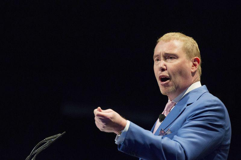 Jeffrey Gundlach, chief executive and chief investment officer of DoubleLine Capital, speaks during the Sohn Investment Conference in New York in this file photo