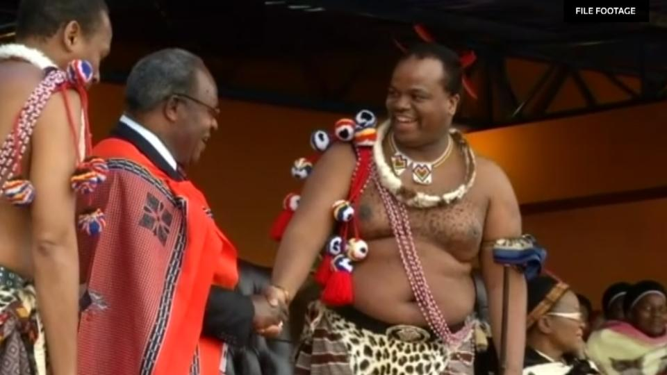 Swaziland's King Mswati III, Africa's last absolute monarch, said he was officially renaming the country as the Kingdom of eSwatini. Julian Sattherthwaite reports.