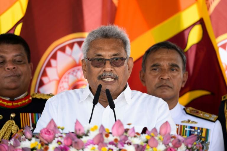 Under Sri Lanka's constitution, no court proceedings can be maintained against a serving president