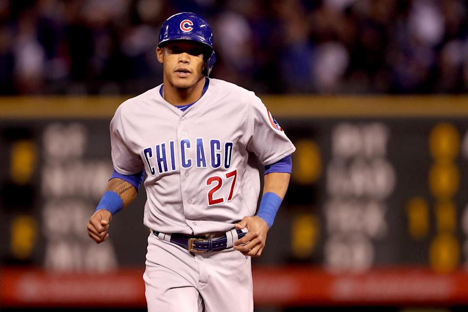 Addison Russell is being investigated by MLB for a possible domestic violence situation involving his wife. (AP)