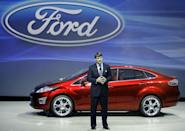 Jim Farley, shown here in 2008, was tapped as the next CEO of Ford (AFP Photo/GEOFF ROBINS)