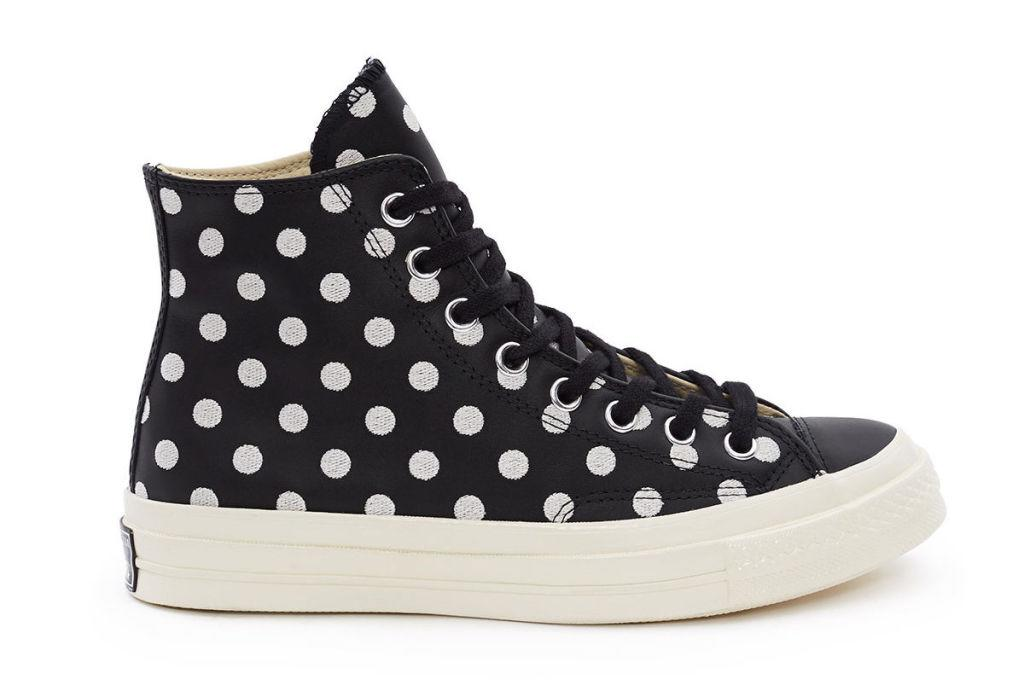 """<p>Chuck Taylor All Star High '70s Polka Dots, $125, <a rel=""""nofollow"""" href=""""https://www.openingceremony.com/mens/converse/chuck-taylor-allstar-70s-high-ST100161.html""""><u>openingceremony.com</u></a>.<span></span></p>"""