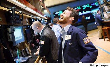 Dow ends at a record again, S&P in 7th straight gain