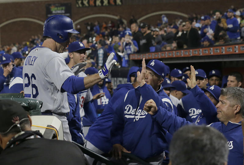 The Dodgers finally broke their 11-game losing streak and clinched a playoff spot in the process. (AP)