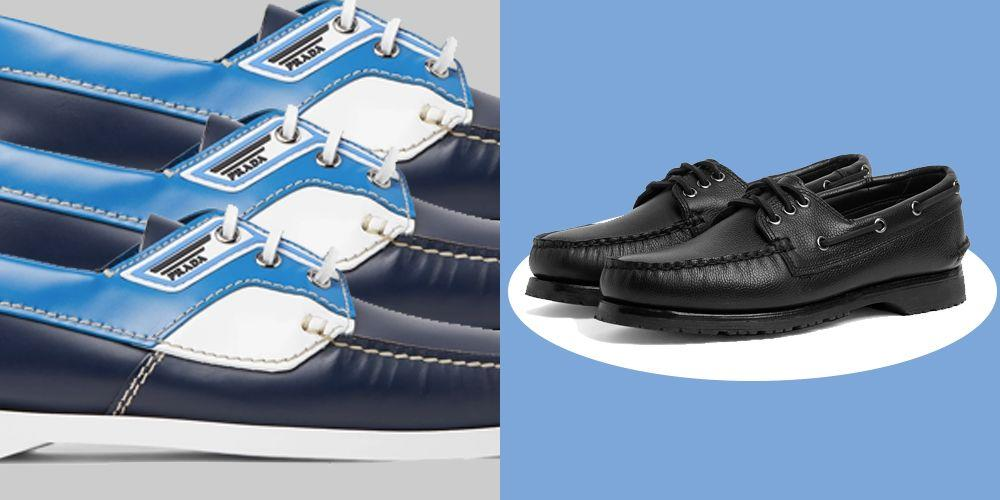 "<p>The boat shoe has been around the block – or, perhaps, the dock – a few times. Coming in and out of fashion more often than <a href=""http://www.esquire.com/uk/style/fashion/a32378746/sixties-seventies-mens-fashion/"" target=""_blank"">tie-dye (which we like at the moment by the way)</a>, the boat shoe can be tough to pull off, because they have you balancing the style tightrope of looking like a sailing club dad, or like you're waiting for your sailing club dad to die so you can inherit his pile in the Hamptons.</p><p>Recently, though, boat shoes have had a bit of a credibility boost courtesy of Miuccia Prada, who gave them a revamp in her Spring / Summer '19 collection, where they were done up with pops of fluorescent colours and more contemporary silhouettes. They're also the foundational footwear of <a href=""http://www.esquire.com/uk/style/fashion/a31260727/preppy-mens-fashion-trend-ss20/"" target=""_blank"">prep 2.0 (or is it 3.0 this time?)</a>, an aesthetic carefully curated by brands like Rowing Blazers, Noah NYC and Aimé Leon Dore; think preppy college kid, but your college was in Queens, NYC and you commuted on a skateboard. </p><p>Like all the best menswear, the boat shoe endures because it just works. It's fundamentally a superb summer shoe: slouchy, comfortable, and happy dressing up or down. It's just a case of what you pair the shoes with. Poorly fitting salmon coloured chinos? No thanks. <a href=""https://www.esquire.com/uk/style/fashion/g32627297/wide-straight-leg-trousers-men/"" target=""_blank"">Wide-leg, cropped denim</a>? Yes please. The boating shoes can also work wonders in the winter, even if the old' 60 footer is tucked away in the dock. Opt for leather of suede if you're feeling adventurous and aim for a chunky sole to help you glide over those murky puddles. Whether you're a paid up member of your local yacht club, or snigger every time you hear the term 'poop deck', these are the best boat shoes you can buy right now.</p>"