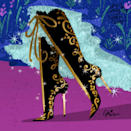 Anna in Casadei-inspired boots.