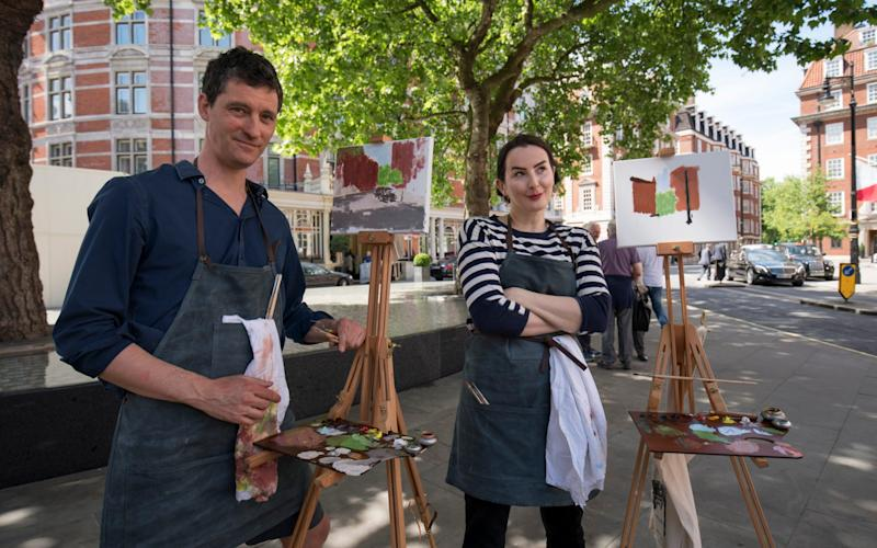 Terence and Hannah with their masterpieces - Credit: Andrew Crowley