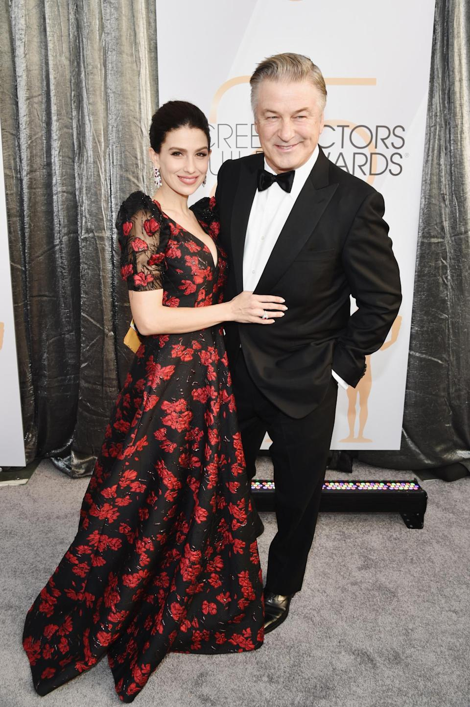 <p>Parents night out! Alec and Hilaria Baldwin looked relaxed at the 2019 Screen Actors Guild Awards. (Photo: Getty Images) </p>