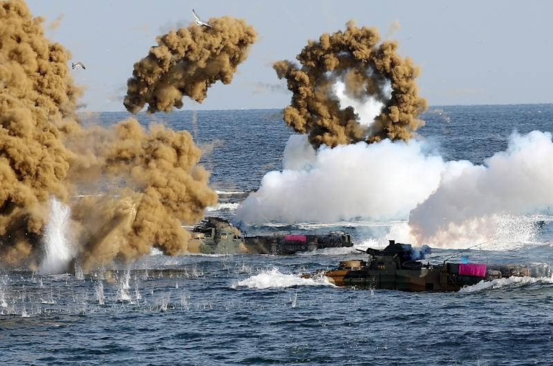 s  korea  us resume suspended joint marine drills