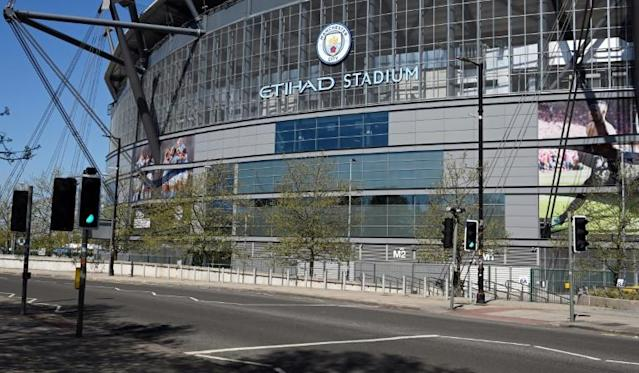 Manchester City's appeal against a two-season ban from European football began on Monday (AFP Photo/Paul ELLIS)