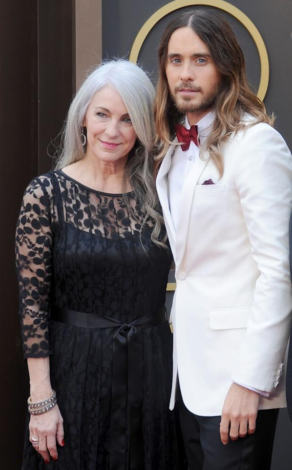 <p>Jared Leto and mom Constance Leto arrive at the 86th Annual Academy Awards at Hollywood & Highland Center on March 2, 2014 in Hollywood, California. </p>