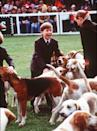 <p>Prince William clearly enjoyed playing with the hounds at the Badminton Horse Trials.</p>