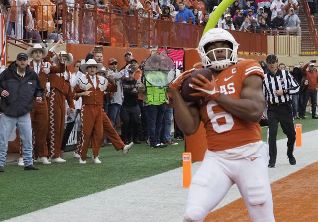 Texas receiver Devin Duvernay is the Longhorns' top receiving threat. And it's not even close. (AP Photo/Michael Thomas)
