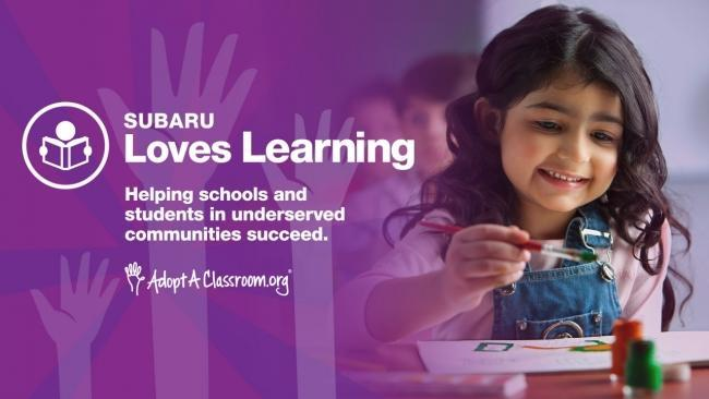 Subaru Supports Students and Classrooms in Need Nationwide During Subaru Loves Learning Month