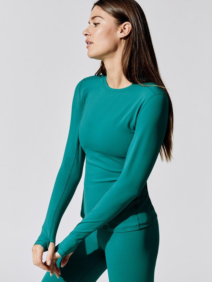 Long Sleeve Top In Diamond Compression