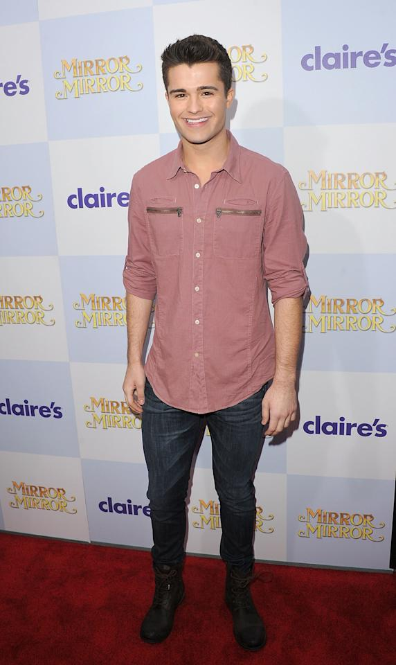 HOLLYWOOD, CA - MARCH 17:  Actor Spencer Boldman attends the 'Mirror Mirror' premiere at Grauman's Chinese Theatre on March 17, 2012 in Hollywood, California.  (Photo by Jason Merritt/Getty Images)