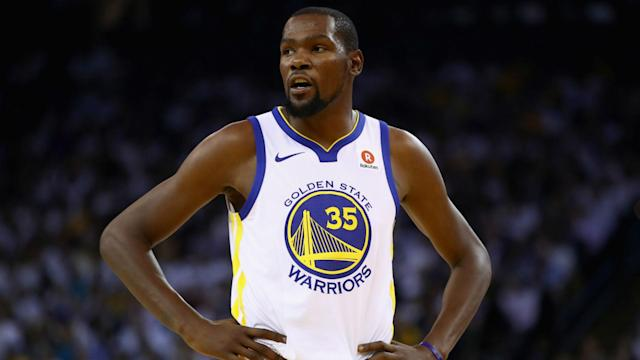 The Houston Rockets' Clint Capela was slammed by Golden State Warriors star Kevin Durant.