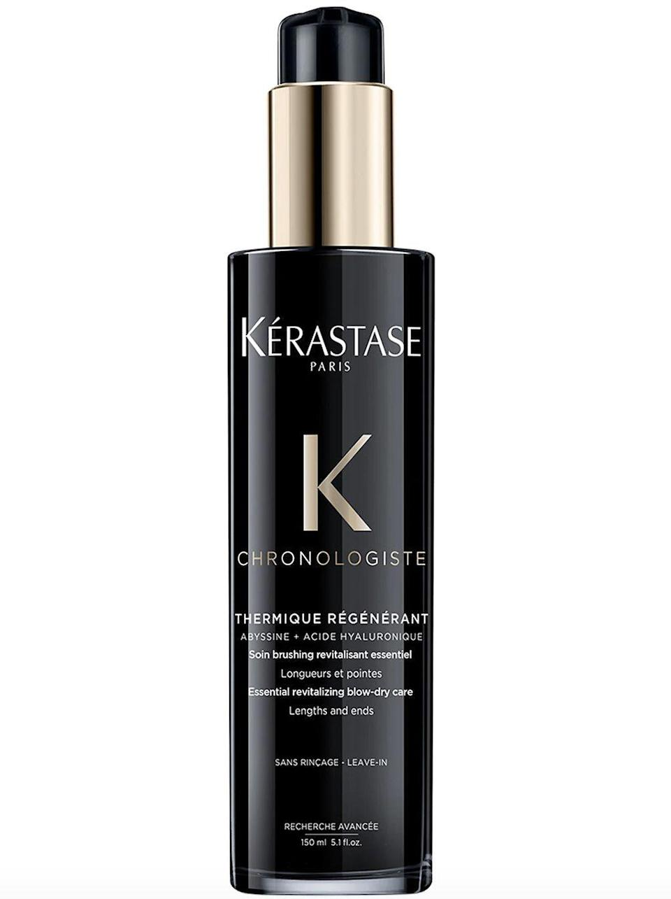 """<p><strong>Kérastase</strong></p><p>sephora.com</p><p><strong>$52.00</strong></p><p><a href=""""https://go.redirectingat.com?id=74968X1596630&url=https%3A%2F%2Fwww.sephora.com%2Fproduct%2Fkerastase-chronologiste-blow-dry-primer-dull-brittle-hair-P466882&sref=https%3A%2F%2Fwww.townandcountrymag.com%2Fstyle%2Fbeauty-products%2Fg35255030%2Fhealthy-hair-tips%2F"""" rel=""""nofollow noopener"""" target=""""_blank"""" data-ylk=""""slk:Shop Now"""" class=""""link rapid-noclick-resp"""">Shop Now</a></p>"""