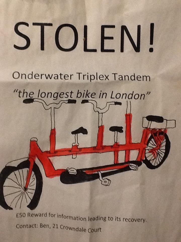 The Watson family appealed for the return of their bike