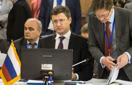 Russia's Energy Minister Alexander Novak attends an extraordinary ministerial meeting of the GECF in Tehran
