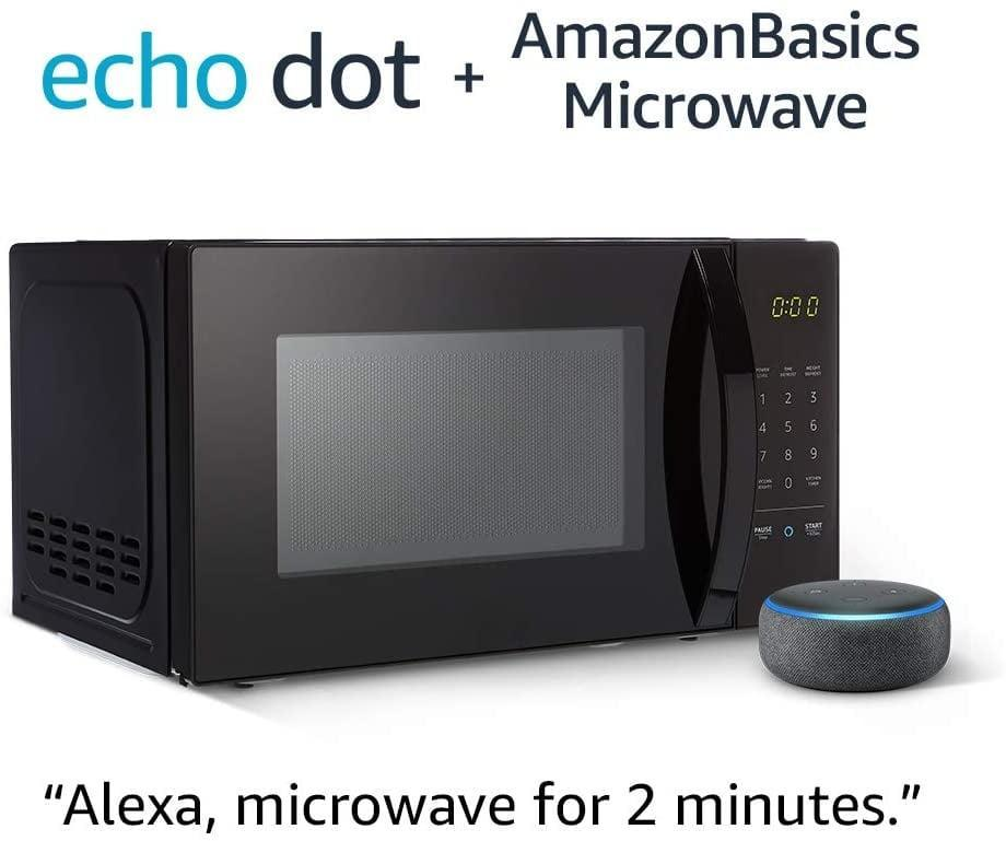 <p><span>AmazonBasics Microwave Bundle With Echo Dot</span> ($60, originally $110)</p>