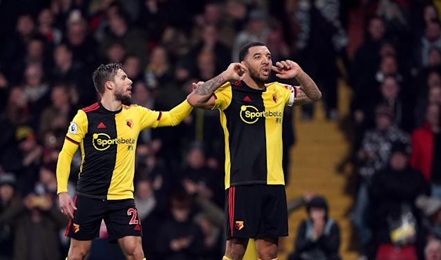 Watford's Troy Deeney celebrates (Credit: Getty Images)