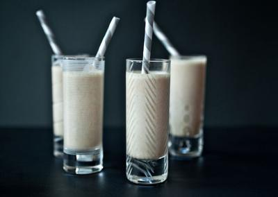 "<div class=""caption-credit""> Photo by: Photo by Ashley Rodriguez</div><div class=""caption-title""></div><b>Pumpkin Rumshake</b> <br> In a blender, combine canned pumpkin, ground nutmeg, vanilla ice cream, milk and rum. Blend until smooth, adding ice cubes for a more frozen consistency, if needed. <br> <i>RECIPE BY Teri Tsang Barrett</i>"