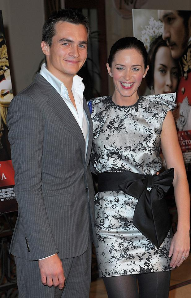 """<a href=""""http://movies.yahoo.com/movie/contributor/1808686696"""">Rupert Friend</a> and <a href=""""http://movies.yahoo.com/movie/contributor/1808577445"""">Emily Blunt</a> at the Los Angeles premiere <a href=""""http://movies.yahoo.com/movie/1809924173/info"""">The Young Victoria</a> - 12/03/2009"""