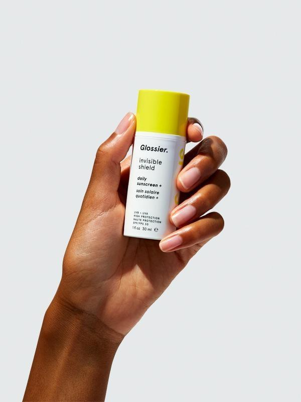 """<p>""""I have a handful of favorite sunscreens, but the <a href=""""https://www.popsugar.com/buy/Glossier-Daily-Sunscreen-Invisible-Shield-123859?p_name=Glossier%20Daily%20Sunscreen%20%2B%3A%20Invisible%20Shield&retailer=glossier.com&pid=123859&price=25&evar1=bella%3Aus&evar9=47580543&evar98=https%3A%2F%2Fwww.popsugar.com%2Fbeauty%2Fphoto-gallery%2F47580543%2Fimage%2F47581086%2FGlossier-Daily-Sunscreen-Invisible-Shield&list1=beauty%20products%2Csunscreen%2Ceditors%20pick%2Csummer%2Cskin%20care&prop13=mobile&pdata=1"""" class=""""link rapid-noclick-resp"""" rel=""""nofollow noopener"""" target=""""_blank"""" data-ylk=""""slk:Glossier Daily Sunscreen +: Invisible Shield"""">Glossier Daily Sunscreen +: Invisible Shield</a> ($25) may be the most powerful. It's not sticky, or greasy, or chalky, and I've never once been burned while wearing this."""" - Samantha Sasso, associate beauty editor, Native</p>"""