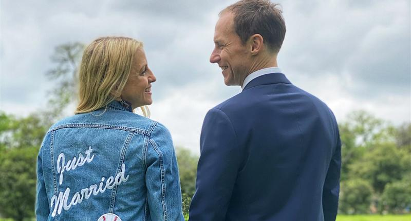 Katie Russell and her husband Brand Alexander Newland were set to marry in Mexico this month. (Image via Katie Russell/Courtesy of TODAY).