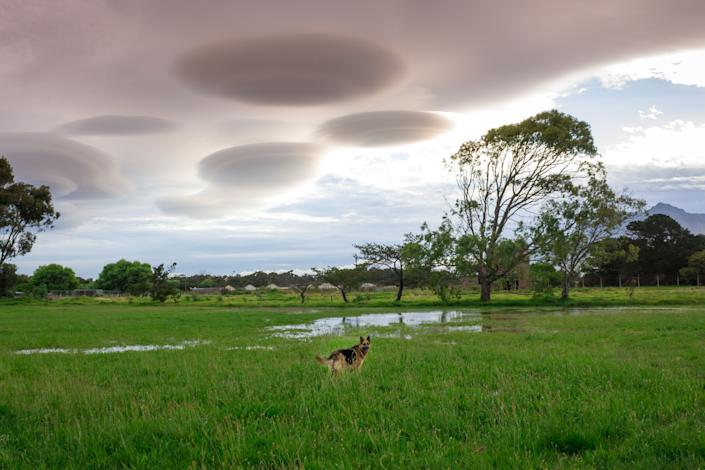UFO clouds over Cape Town, South Africa.
