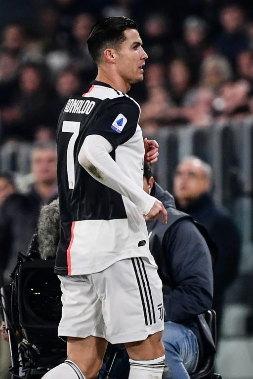 Juventus' Portuguese forward Cristiano Ronaldo was substituted for the second straight game. (AFP Photo/Marco Bertorello)