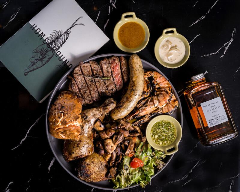 The mixed platter. Photo: Homeground Grill & Bar