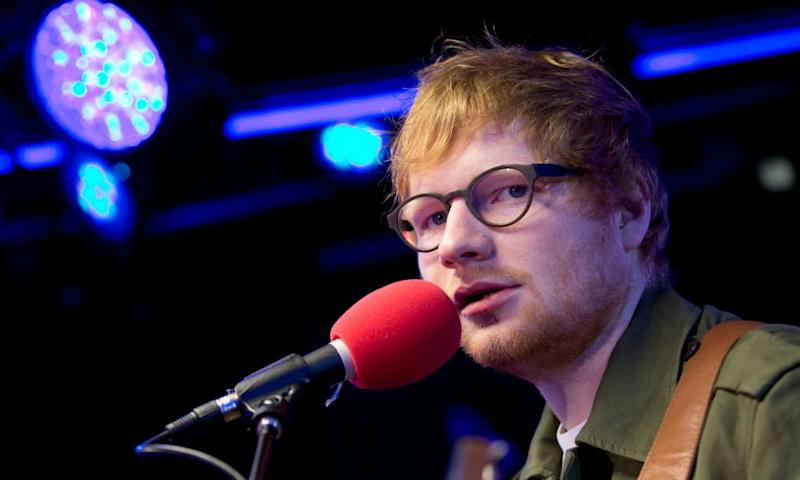 Sheeran's song Photograph was a Top 20 hit in the UK and the US.
