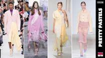 <p>In 2016, Pantone named Rose Quartz and Serenity Colors of the Year. In 2018 will the pastel trend continue to live on? The fashion community seems to think so. (Photo: ImaxTree) </p>