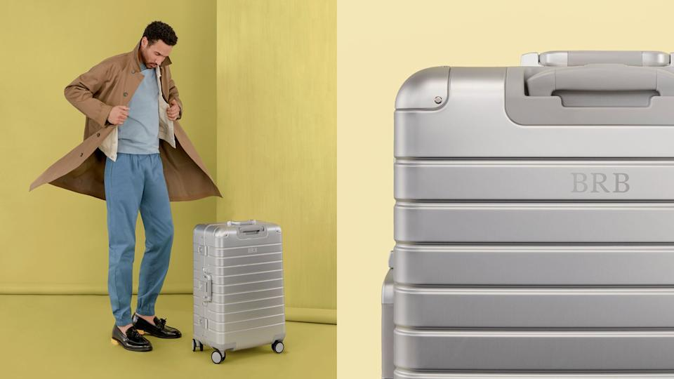 'Away' personalized luggage