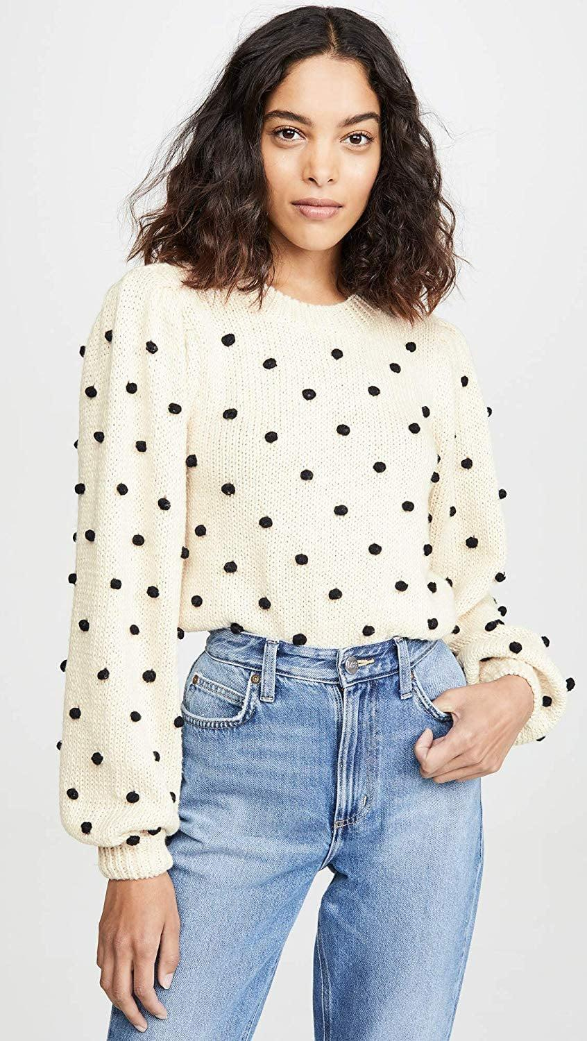 <p>How can you resist this chic <span>ASTR the Label Aidy Pom Knit Sweater</span> ($90)?</p>