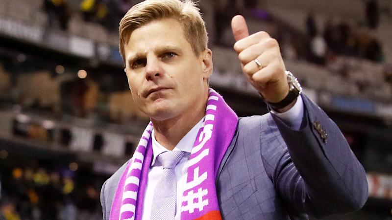 Nick Riewoldt, pictured here at the MCG in 2018.