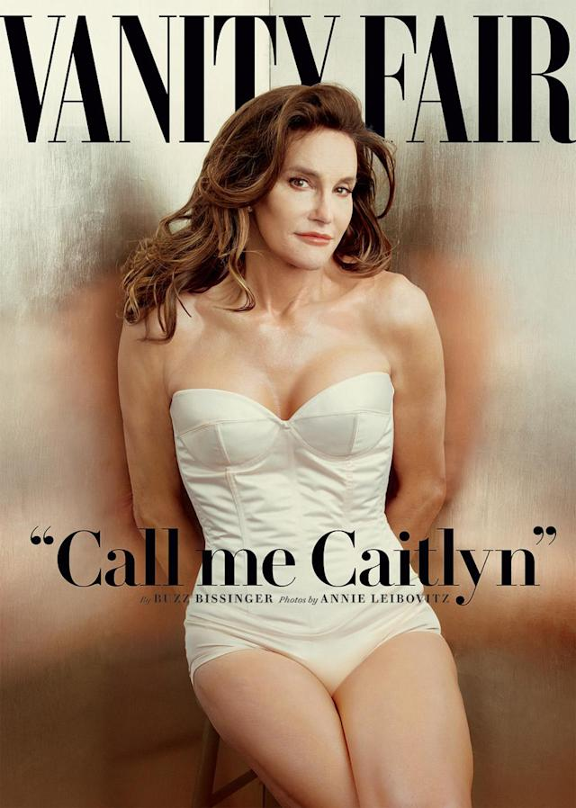 <p>The former athlete officially came out as Caitlyn on the cover of <em>Vanity Fair</em> in July 2015 at 65 years old. (Photo: Vanity Fair) </p>