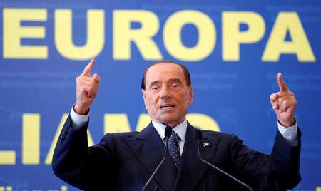 Forza Italia leader Silvio Berlusconi gestures during EPP European People's Party meeting in Fiuggi, Italy, September 17, 2017. REUTERS/Remo Casilli