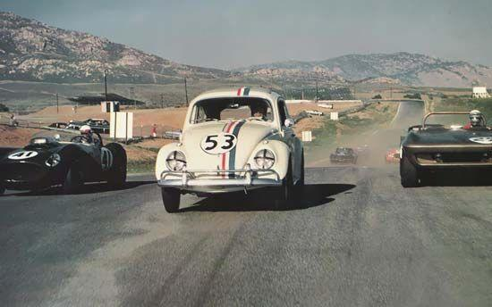 "<p>Long before Kit from <em>Knight Rider,</em> we had a sentient car in Herbie. Herbie is never referred to as a Volkswagen in the first film, all branding had to be removed. VW was on board for the second film, <em>Herbie Rides Again.</em></p><p>In each of the five films, Herbie appear slightly different and upward of 100 cars were used in all five. Walt Disney Studios built 11 cars for the first Herbie movie, and of those 11 only three are known to exist today. Normally, the interior of this beetle would have been white but for the film they painted it a gray color so it wouldn't reflect the studio lights. </p><p>One of the VWs in the film was outfitted with a Porsche Super 90 engine for extra performance. Herbie #10 resides at the <a href=""https://www.aacamuseum.org/herbie-the-love-bug/"" rel=""nofollow noopener"" target=""_blank"" data-ylk=""slk:AACA Museum"" class=""link rapid-noclick-resp"">AACA Museum</a> in Hershey, Pennsylvania, if you're suffering from a different kind of Beetlemania and need a quick fix.</p>"