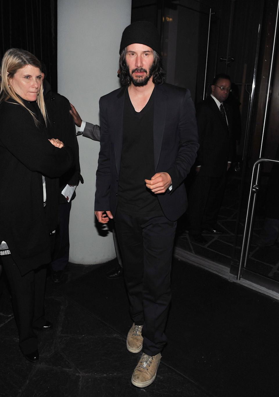 """Reeves attends the afterparty for the screening of """"Henry's Crime"""" at the Cooper Square Hotel in New York City."""