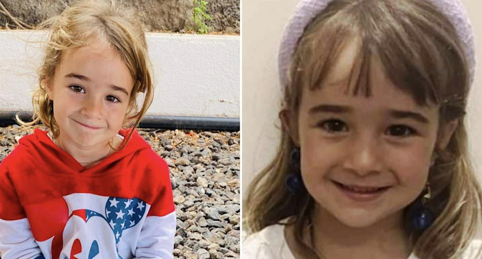 Olivia Zimmermann, 6, is pictured.