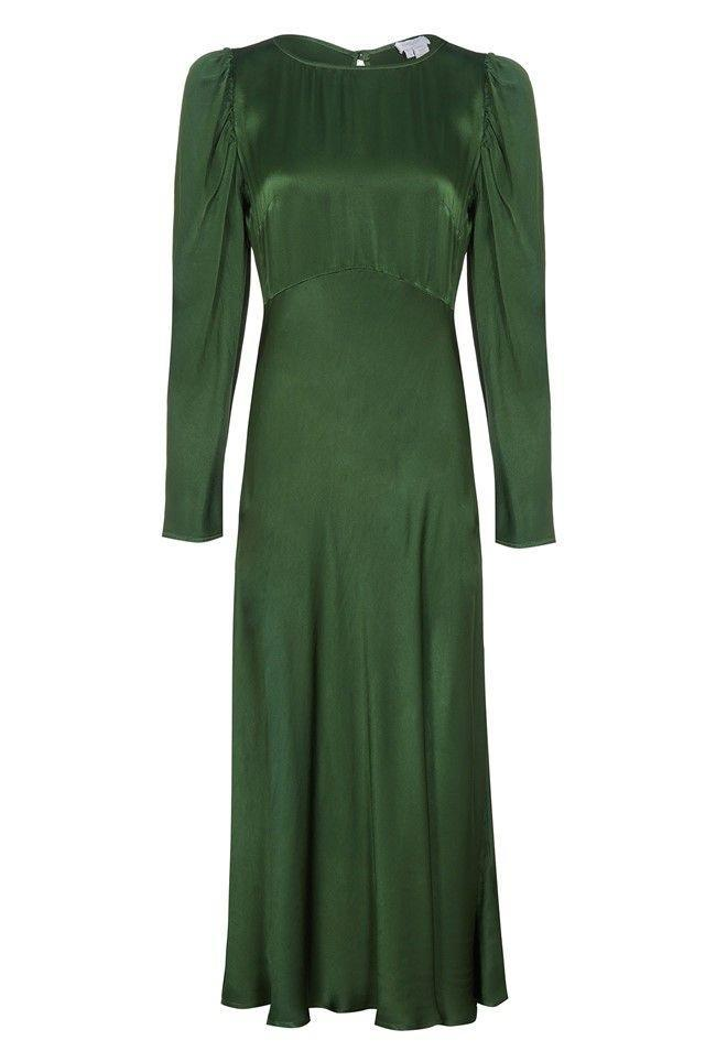 "<p><a class=""link rapid-noclick-resp"" href=""https://go.redirectingat.com?id=127X1599956&url=https%3A%2F%2Fwww.ghost.co.uk%2Frosaleen-dress-dark-green-dc26ca-j13&sref=https%3A%2F%2Fwww.prima.co.uk%2Ffashion-and-beauty%2Ffashion-tips%2Fnews%2Fg29709%2Fwedding-guest-outfits%2F"" rel=""nofollow noopener"" target=""_blank"" data-ylk=""slk:SHOP NOW"">SHOP NOW</a></p><p>Not the typical summery bright or patterned option, but this silk green dress is a classic choice that could be worn to a wedding in spring, summer, autumn or winter. The key is how you accessorise it. </p><p>Rosaleen dress in dark green, £145, <a href=""https://www.ghost.co.uk/rosaleen-dress-dark-green-dc26ca-j13"" rel=""nofollow noopener"" target=""_blank"" data-ylk=""slk:Ghost"" class=""link rapid-noclick-resp"">Ghost</a></p>"