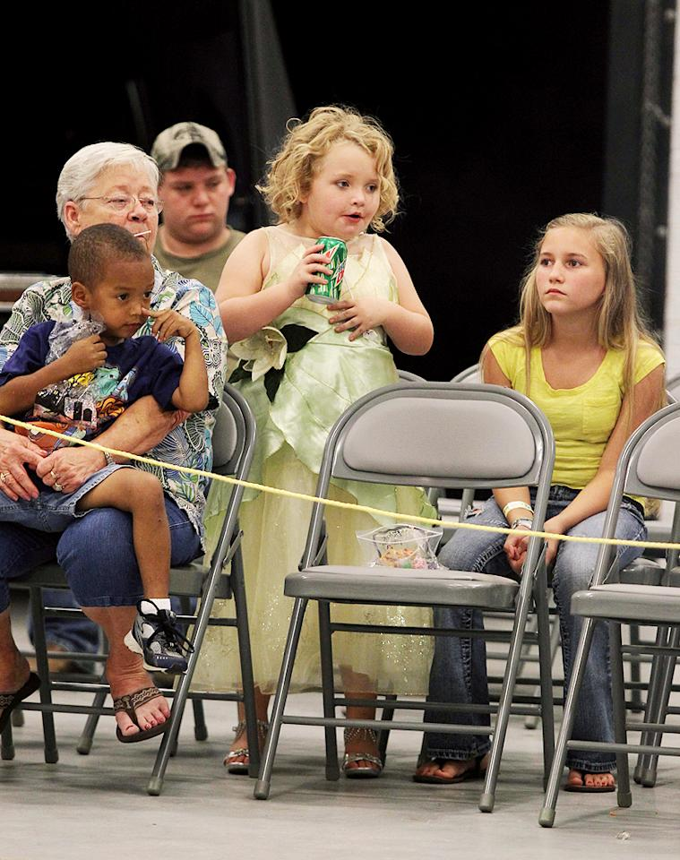 """Despite being worried she's """"too chunky"""" for pageants, the 7-year-old loaded up on sugary treats like Mountain Dew soda and Baby Ruth candy bars. (10/9/12)"""